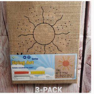 You Are My Sunshine Burlap DIY String Art Signs 3